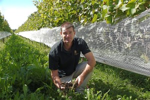 Jonathan (Jono) Hamlet of the Joseph Solar Vineyard (Manager and Viticulturist)