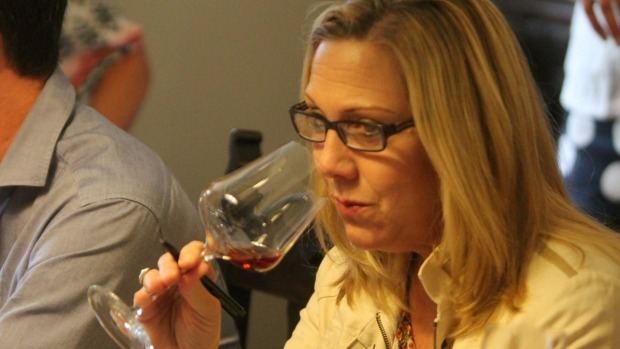 American wine writer Sara Schneider at the tasting.