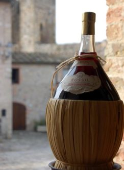 Fiasco – Italian bottle contained in a straw basket