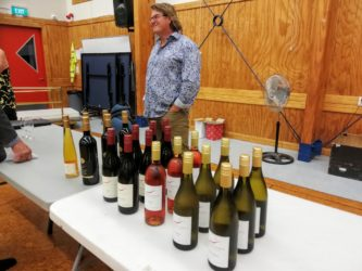 Hawkes Ridge owner & winemaker Douglas Haynes with a small range of his wines.